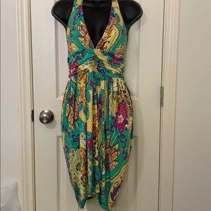 Karlie Multi-color halter top dress/size Large